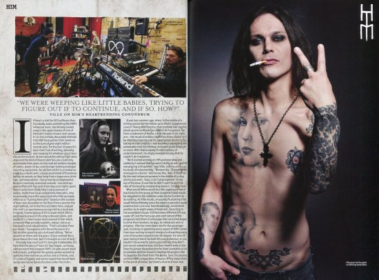 Перевод Metal Hammer HIM Hardback Magazine - Часть 1