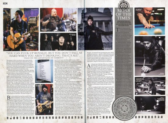 Перевод Metal Hammer HIM Hardback Magazine - Часть 2