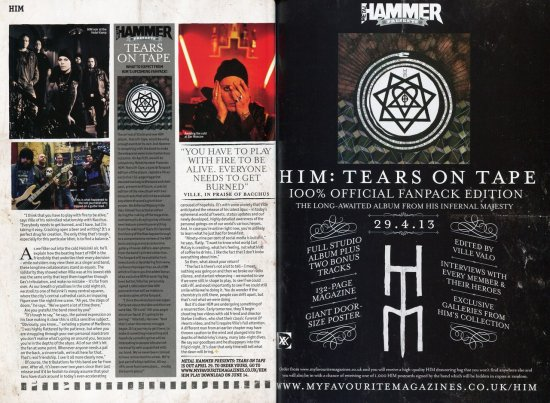 Перевод Metal Hammer HIM Hardback Magazine - Часть 3