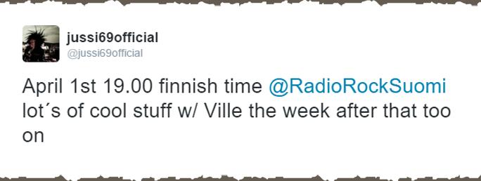 Вилле Вало на Radiorock в гостях у Jyssi69